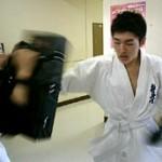 須川選手のアップの様子。 気合い入ってます。
