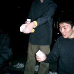 おなかペコペコの須川君。