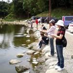山口さんも釣りは初挑戦。