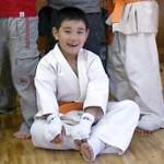 小学1年生の部で4位に入賞した馬場勘太9級。