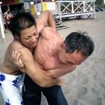 無敗の野村君でしたが、壮年代表の大島さんに投げ飛ばされてしまいました!
