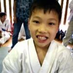 決勝戦直後の長谷川晃9級の表情。