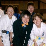 女子部憧れの世界チャンピオンの江口美幸先輩と。