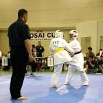 山集悠亜6級の1回戦。黒帯相手に健闘しました。