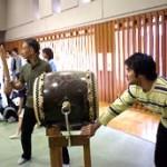 太鼓係の大島さんと和田さん。お手伝いありがとうございました。