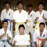 溝口支部より一般部には7名の選手が出場しました。左上から黒岩、西、三浦、須川、左下より小椎尾、冨上、鈴木。