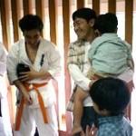 本橋さんもお子さんと応援に来てくれました。