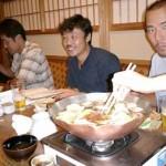 山集さんのお母さんに連れてきて頂いた「権太呂」にて。ダシが絶品のとても美味しい「京風うどんすき」を頂きました。山集さんのお母さん、差し入れなどありがとうございました。