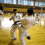 軽量級チャンピオン・尾崎選手による「下段蹴りに対する合わせ技」テクニックセミナー