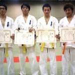 準優勝した昭島・溝口連合チーム。昭島道場の皆さん、溝口の選手にも声援をいただきありがとうございました。