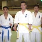 チーム「なかよし」 左から下野剛史8級・黒岩諭人6級・野村亮介6級。