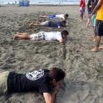 しかしビーチフラッグになると皆の表情が一変。
