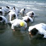 負けたチームは拳立ての罰ゲーム。拳が砂の中に埋もれていきます。
