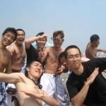 自由時間の海水浴!!