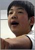 藤本真 4級  今年はケガから復活できた。皆をみて「ヤバイ!」と感じた。来年はケガなく頑張りたい。