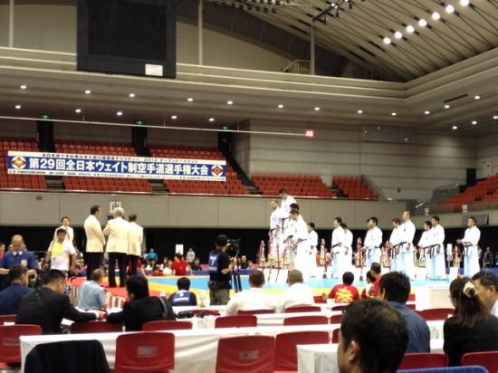 第29回全日本ウェイト制空手道選手権大会 表彰式