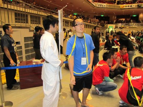 第44回全日本空手道選手権大会 片野選手試合直前