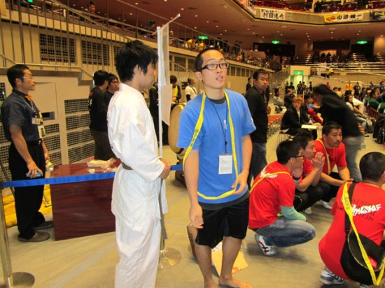 極真第44回全日本空手道選手権大会 試合前の片野選手