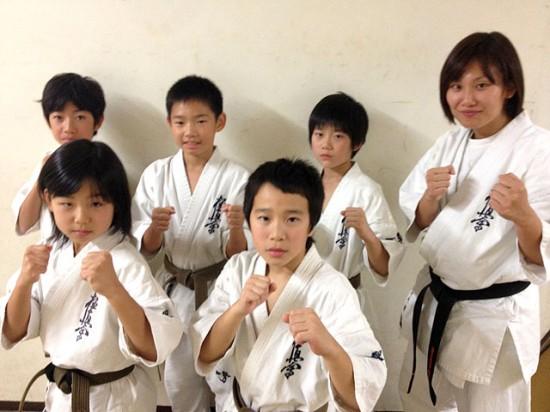 極真第44回全日本空手道選手権大会 少年部演武に参加した溝の口道場生
